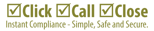 Click. Call. Close. Instance compliance - simple, safe and secure.